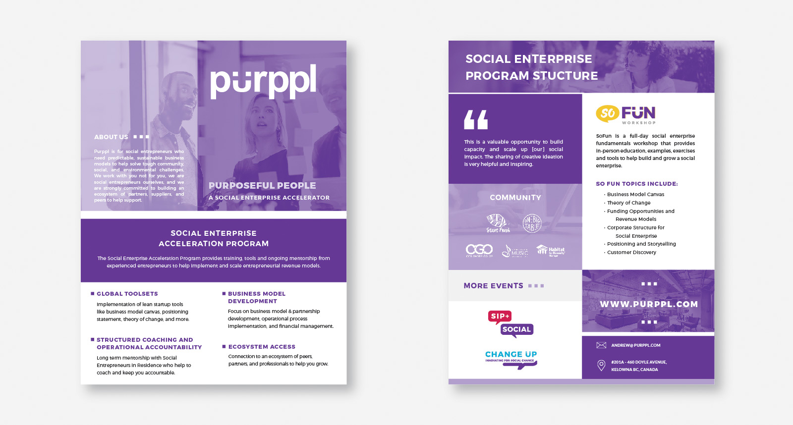 Purppl Print Assets created by Catalyst Marketing