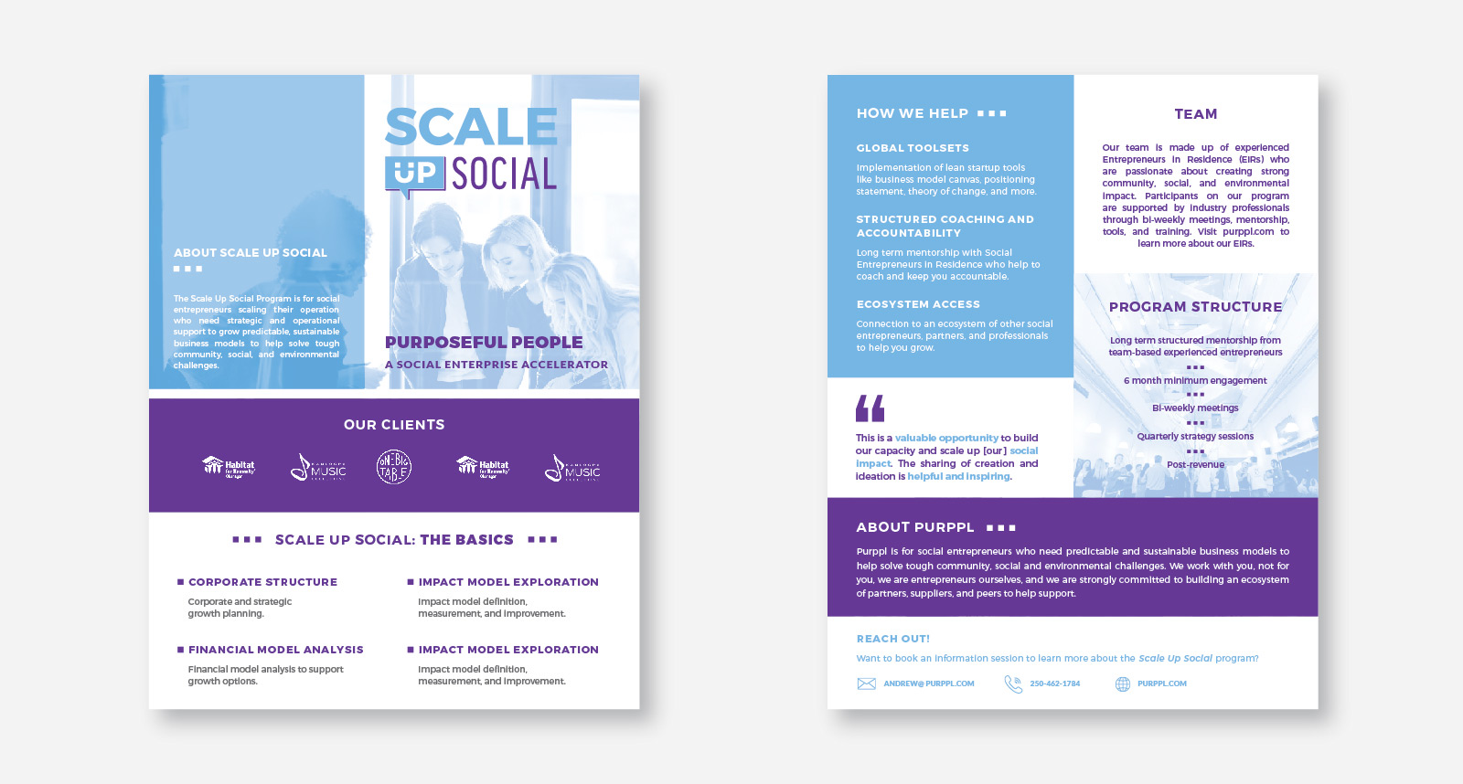 Purppl Scale Up Social Print Assets created by Catalyst Marketing