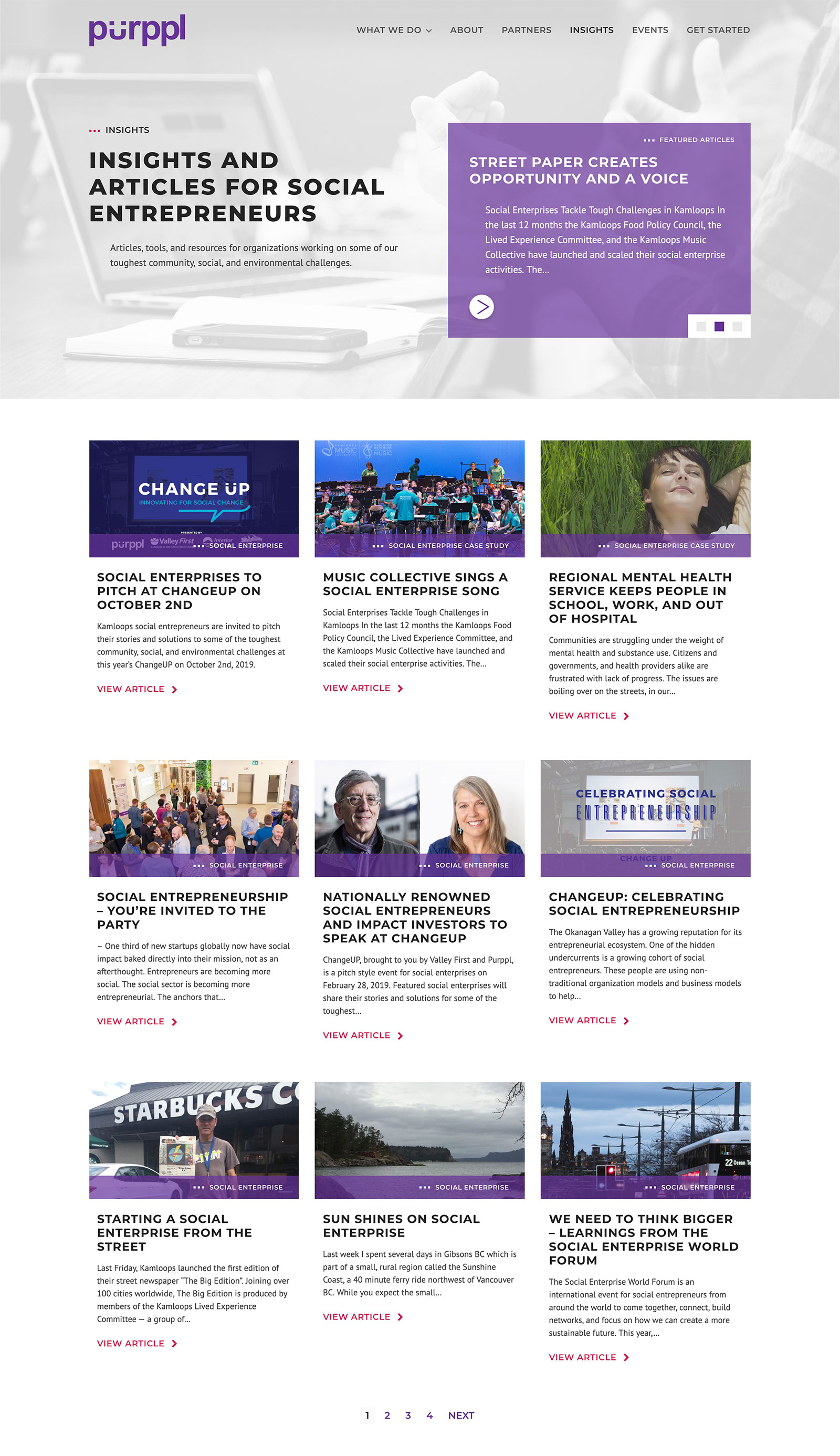 Purppl Blog web design by Catalyst Marketing